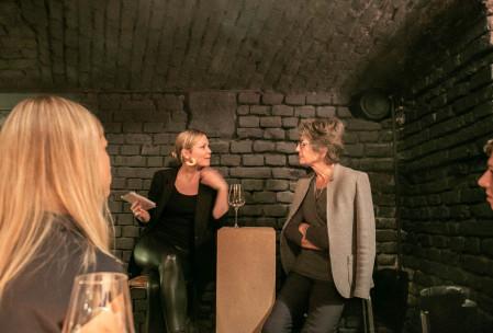 Gespräch mit Cecily Corti, am 15. November 2018. Virtue Dinner, Mochi.